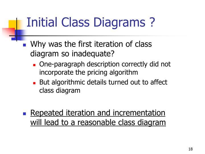 Initial Class Diagrams ?