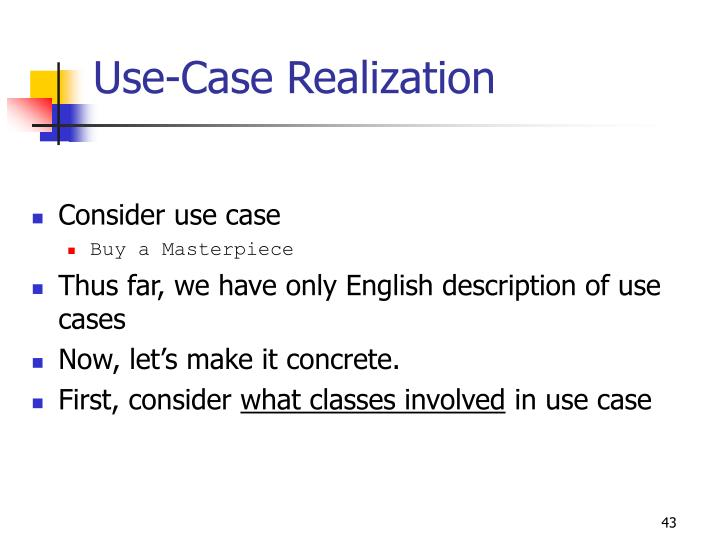 Use-Case Realization