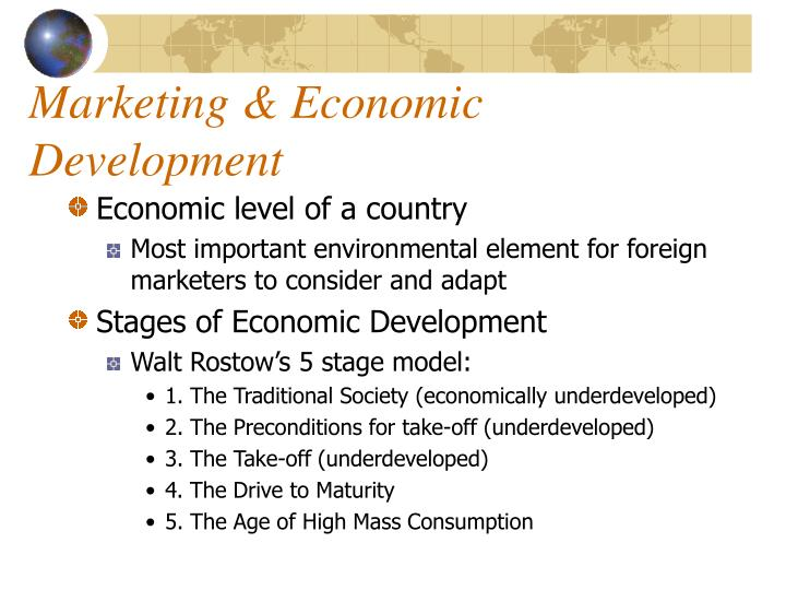 Marketing economic development