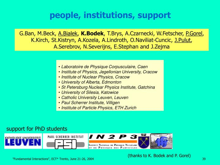 people, institutions, support