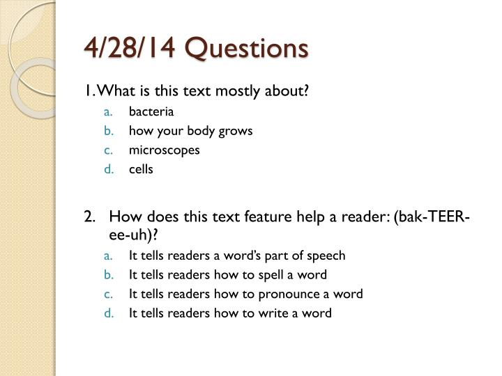 4/28/14 Questions