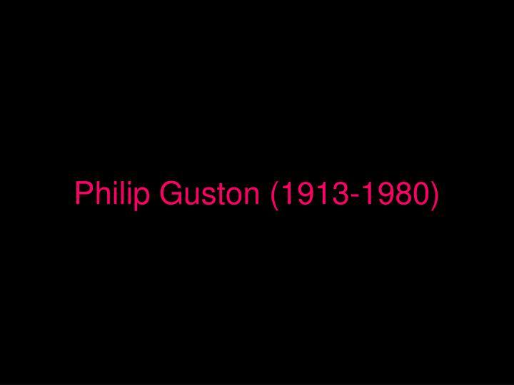 Philip Guston (1913-1980)