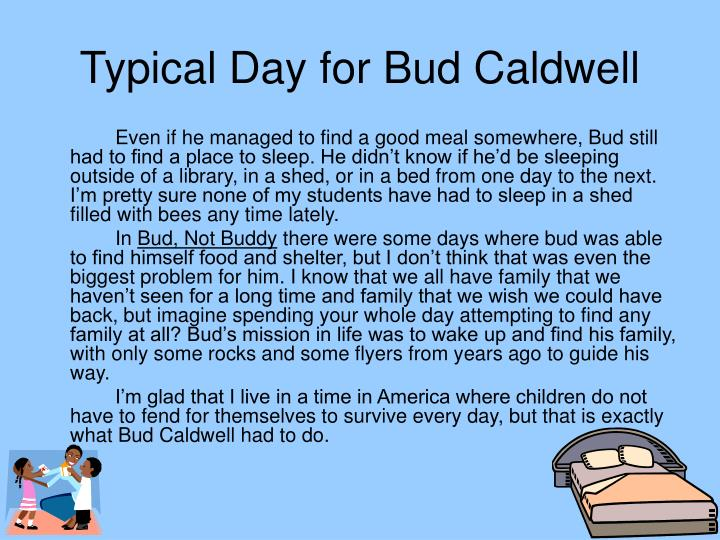 Typical day for bud caldwell1