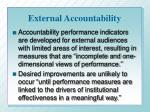 external accountability