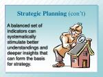 strategic planning con t
