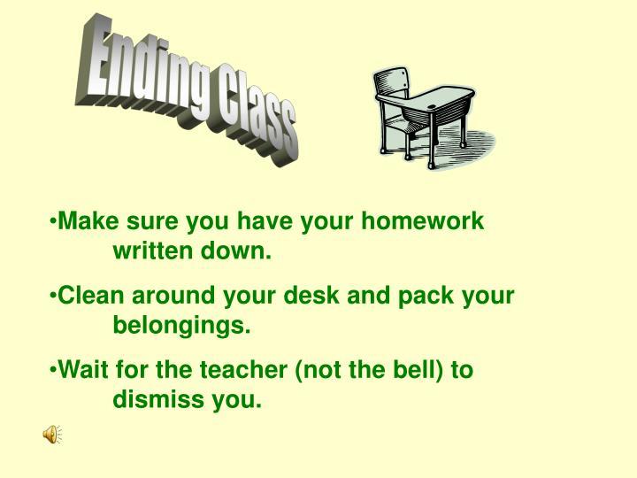 Ending Class