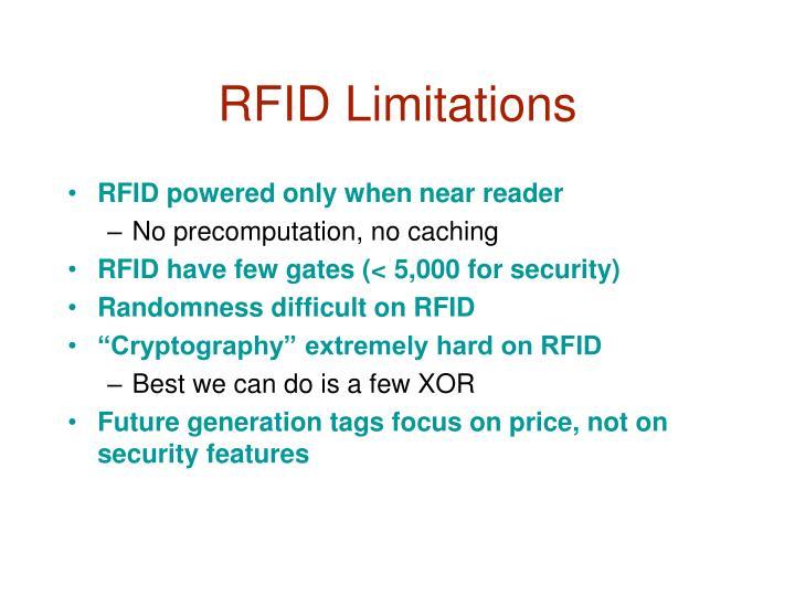 RFID Limitations