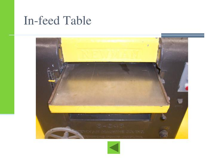In-feed Table