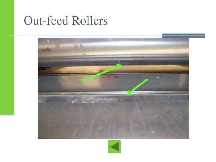 Out-feed Rollers