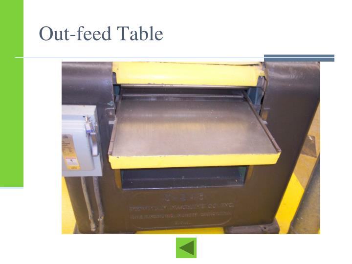 Out-feed Table