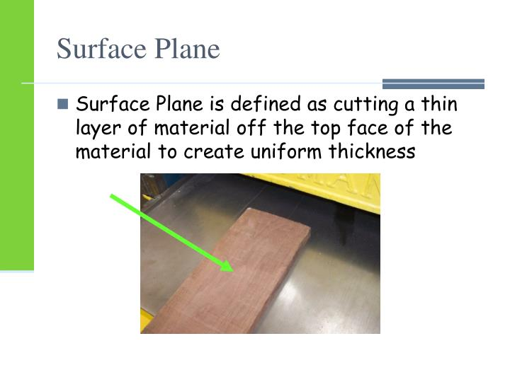 Surface Plane