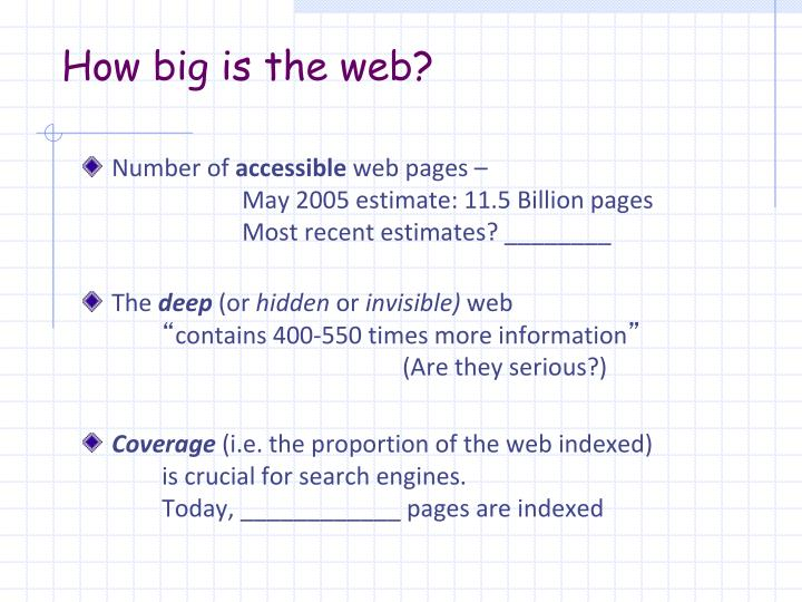 How big is the web