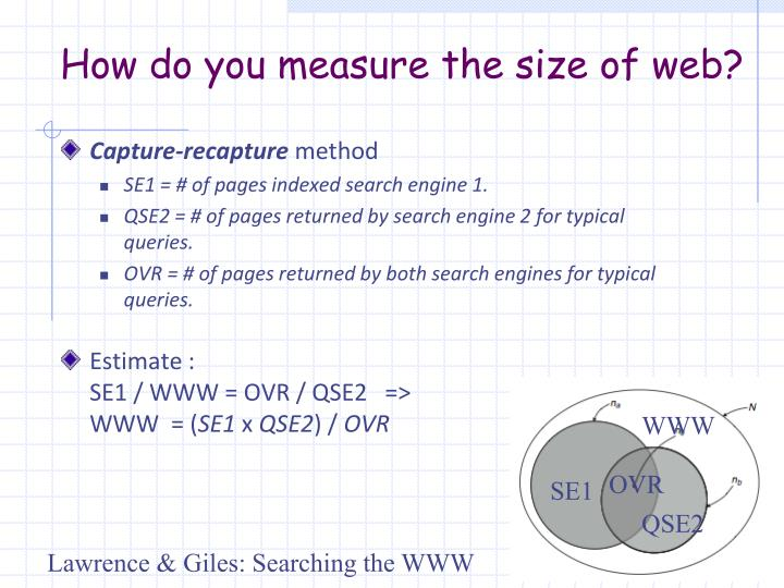 How do you measure the size of web?
