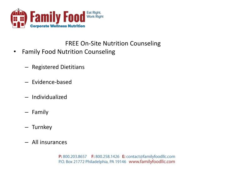 FREE On-Site Nutrition Counseling