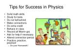 tips for success in physics1