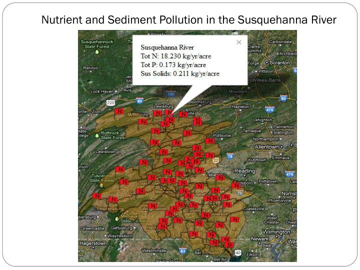 Nutrient and Sediment Pollution in the Susquehanna River