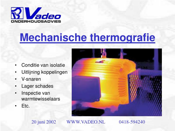 Mechanische thermografie