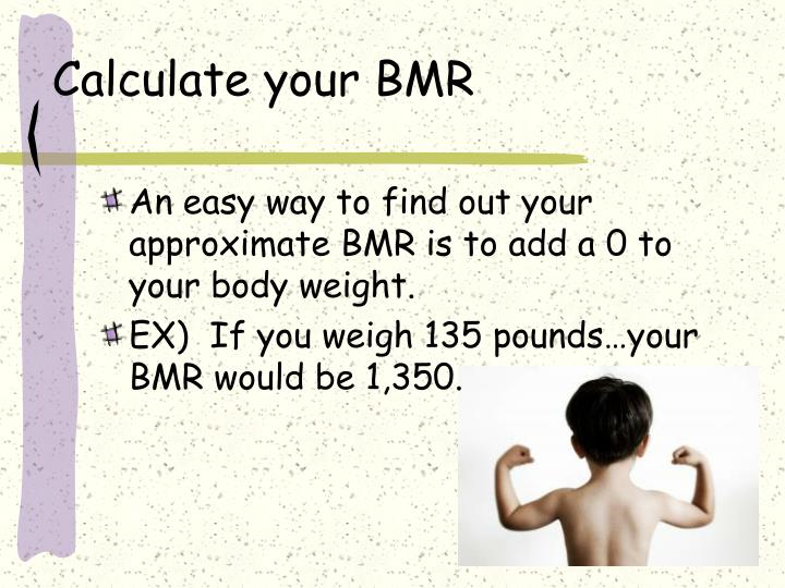 Calculate your BMR