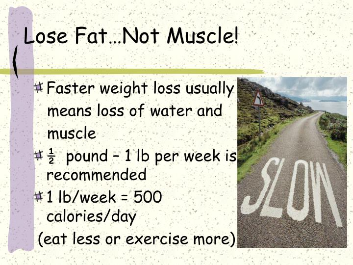 Lose Fat…Not Muscle!