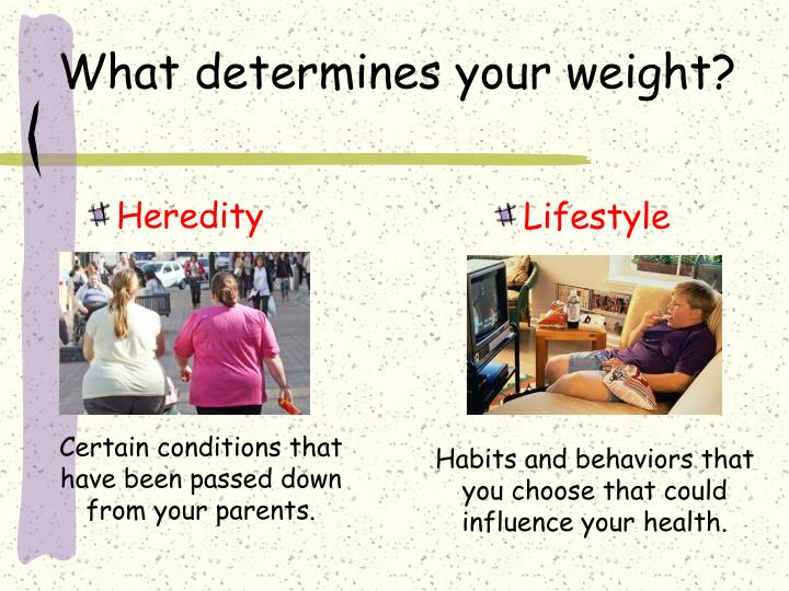 What determines your weight?