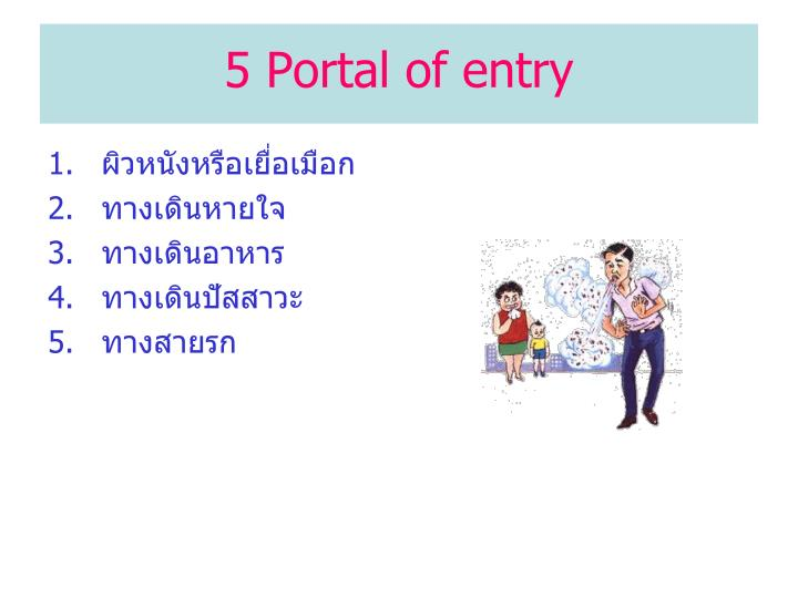 5 Portal of entry