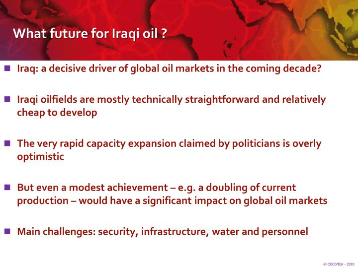 What future for Iraqi oil ?