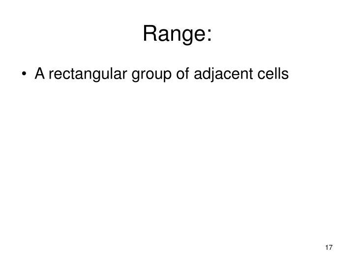 Range: