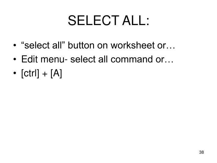 SELECT ALL: