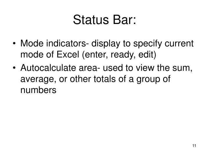 Status Bar: