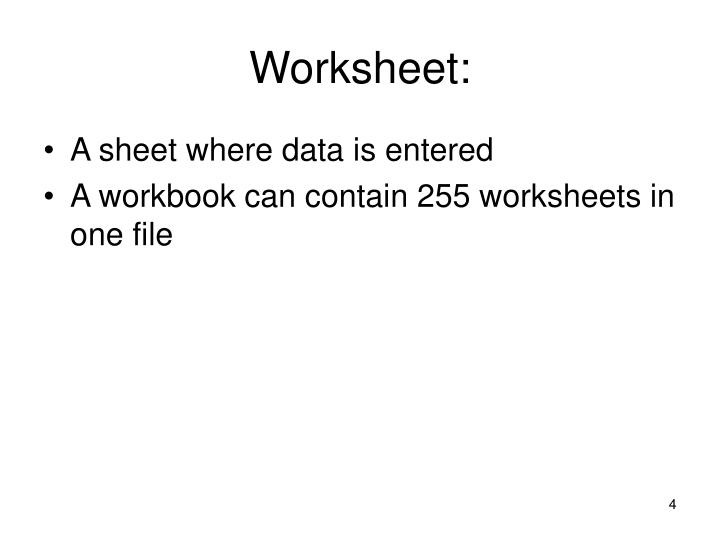 Worksheet: