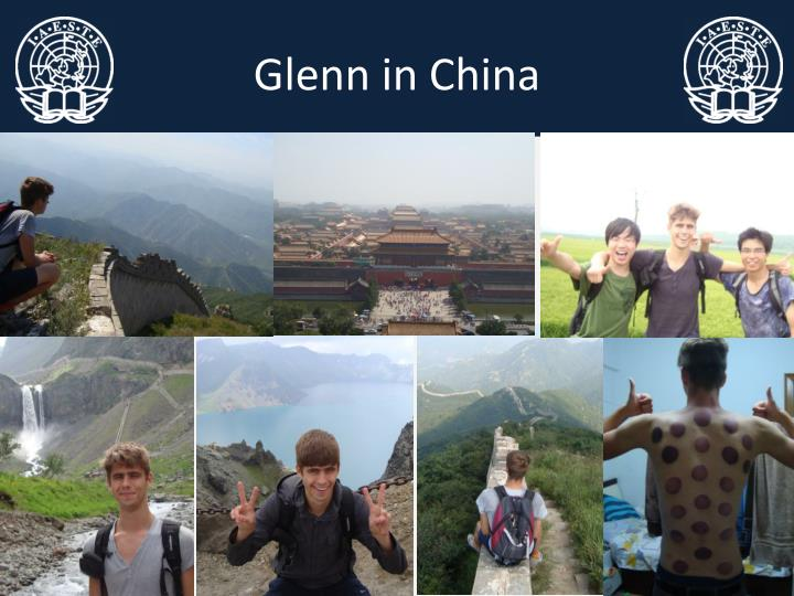Glenn in China
