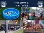 local activities iaeste bbq