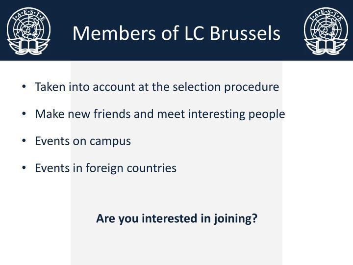Members of LC Brussels