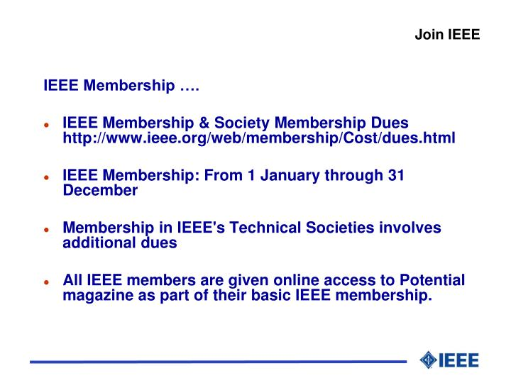 Join IEEE