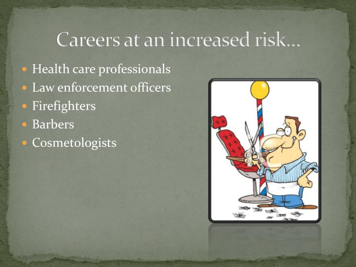 Careers at an increased risk…