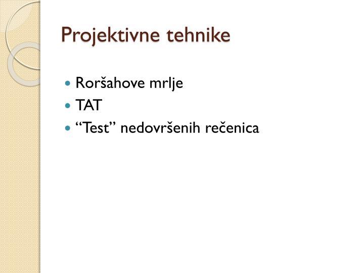 Projektivne tehnike