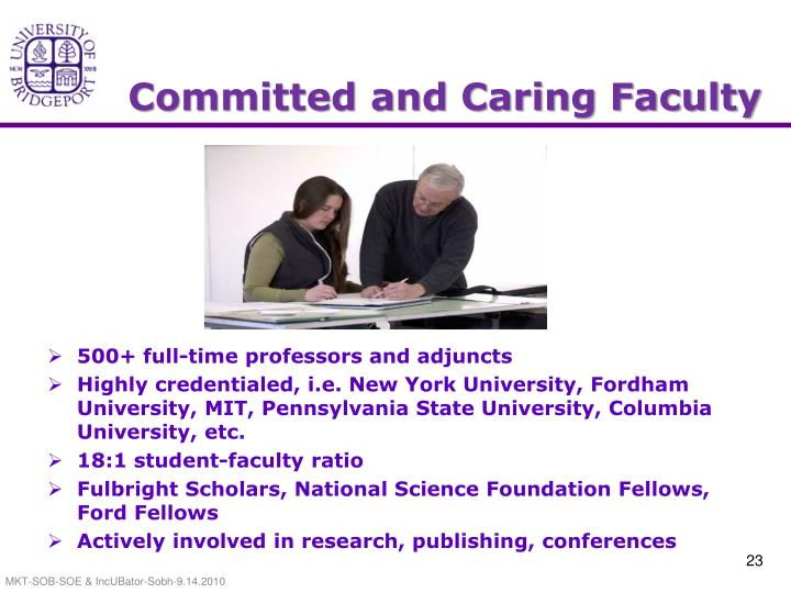 Committed and Caring Faculty