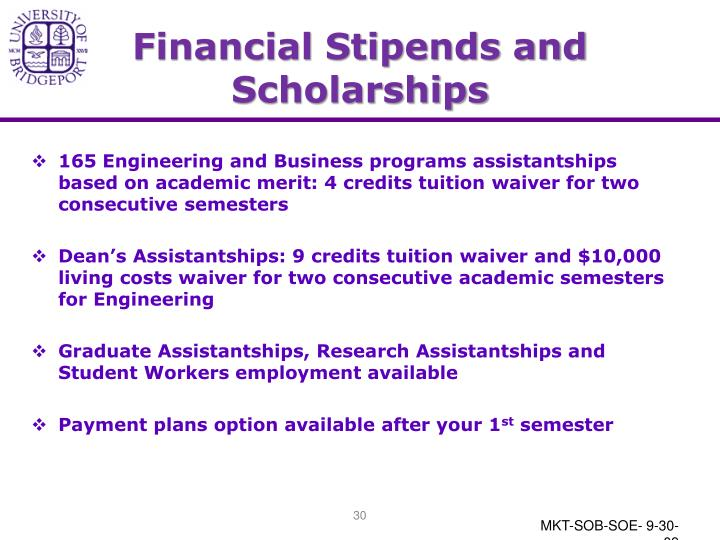 Financial Stipends and Scholarships