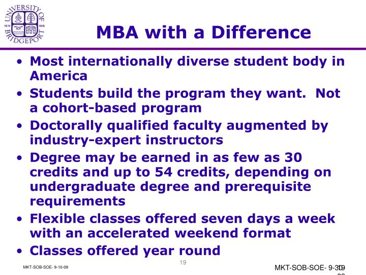 MBA with a Difference