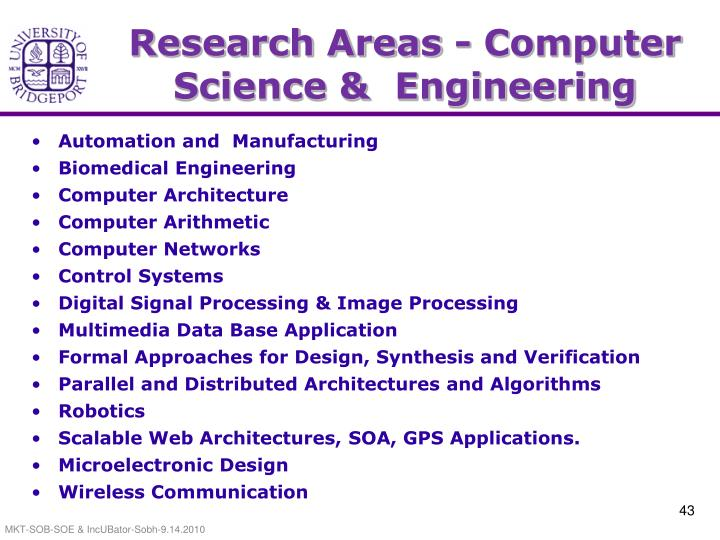 Research Areas - Computer Science &  Engineering