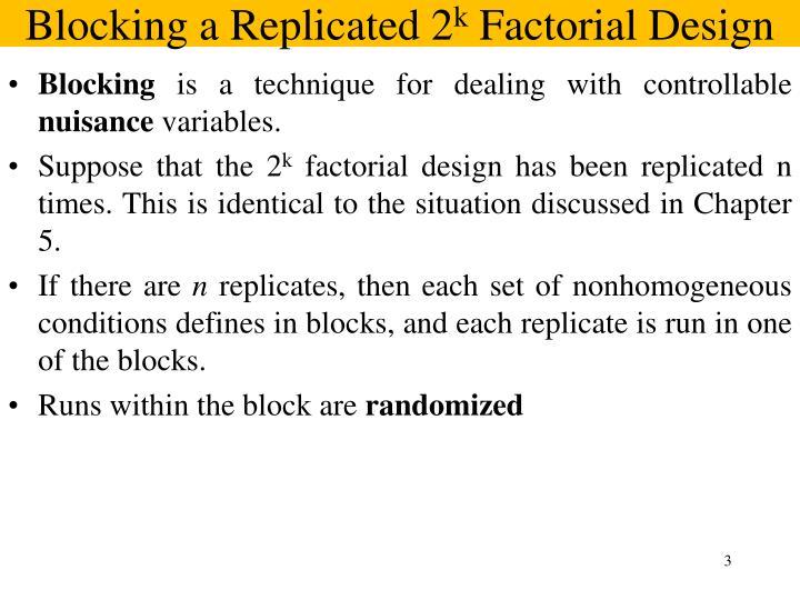 Blocking a Replicated 2