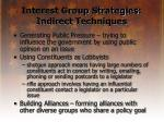 interest group strategies indirect techniques