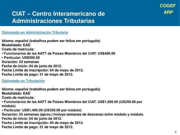 CIAT – Centro Interamericano de