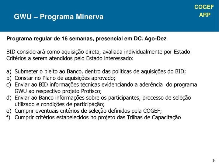 GWU – Programa Minerva