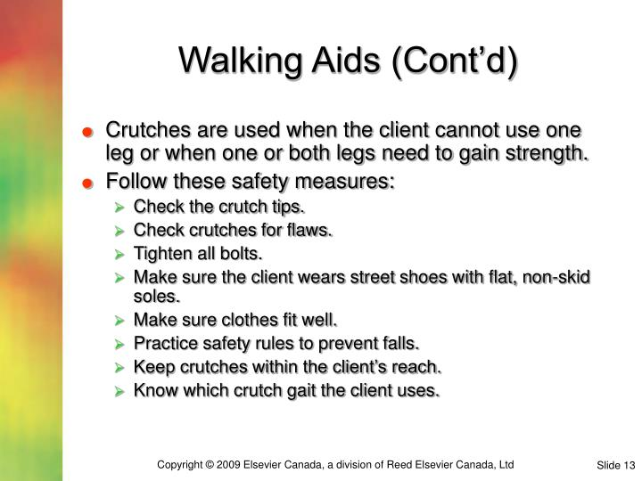Walking Aids (Cont'd)