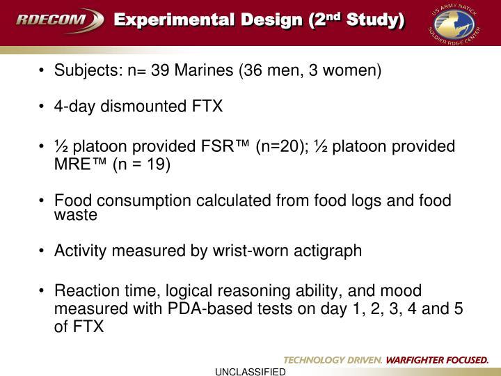 Experimental Design (2