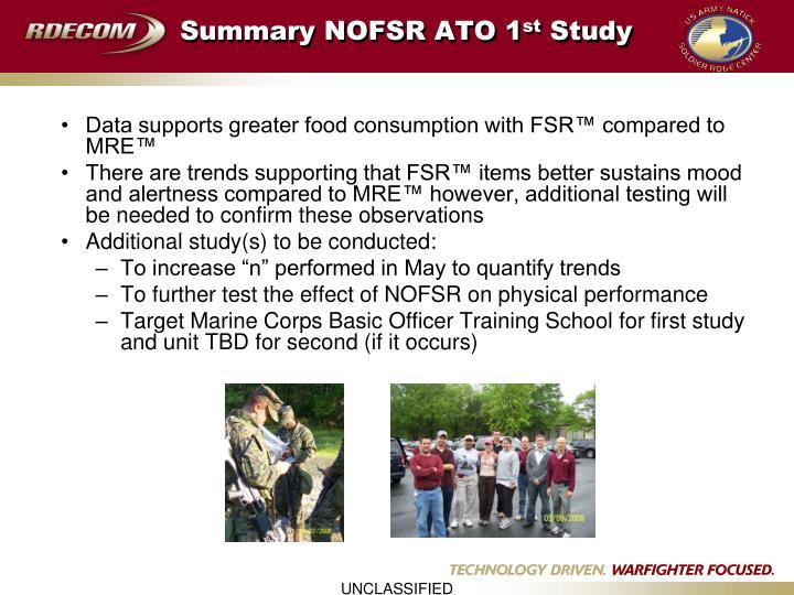 Summary NOFSR ATO 1