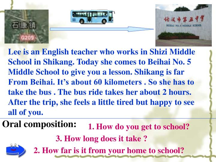 Lee is an English teacher who works in Shizi Middle