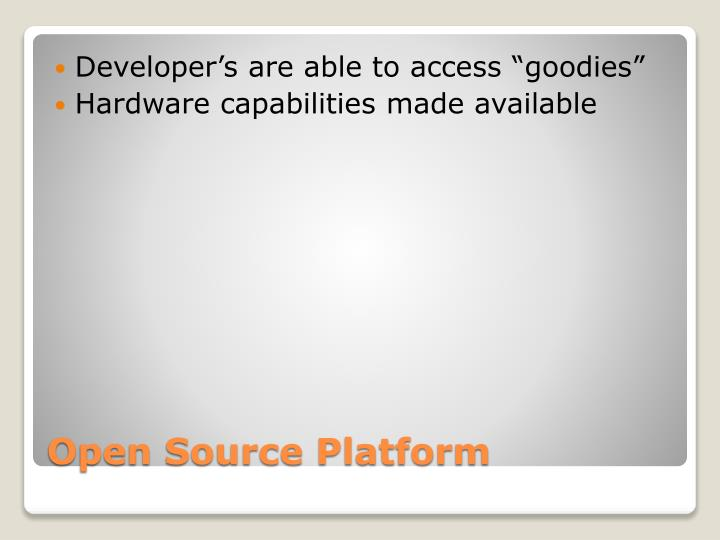 "Developer's are able to access ""goodies"""