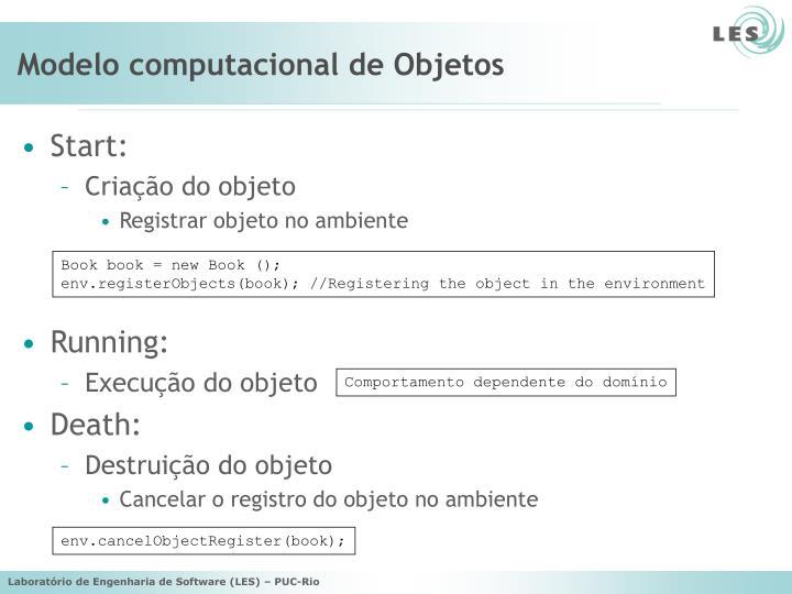 Modelo computacional de Objetos